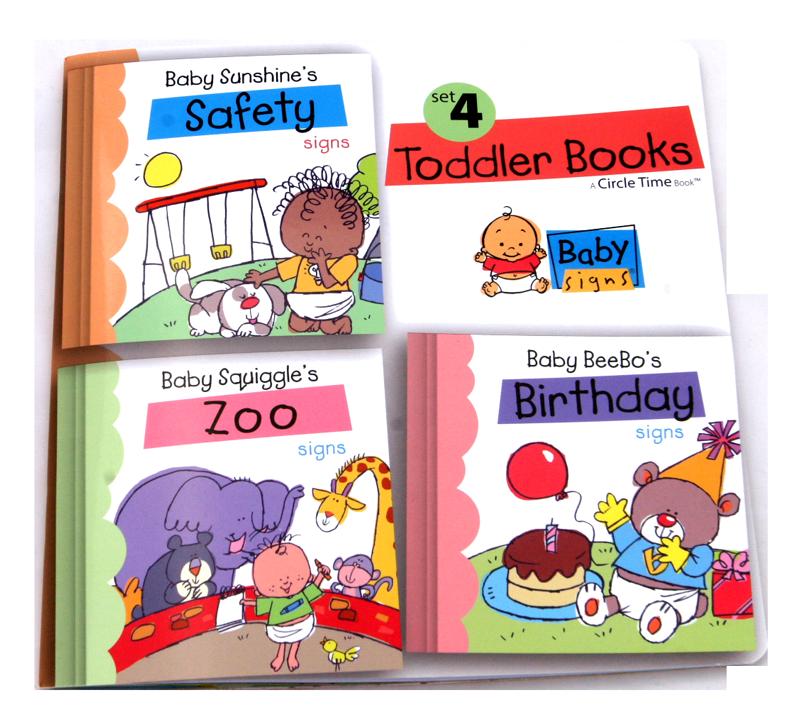 Circle Time Book 4 - Bezpečnost, V ZOO a Narozeniny – knížka pro batolata