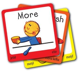 Výukové karty ke znakování i angličtině - sada 1