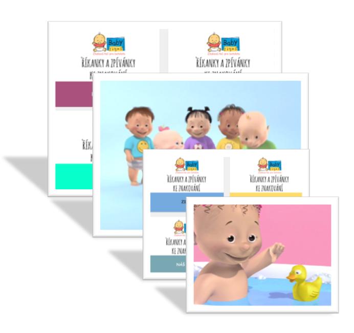 Online videa a knížky ke znakování: 3+1 ZDARMA